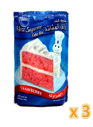 Pillsbury Moist Supreme Strawberry Cake Mix, 3 Pieces x 485g