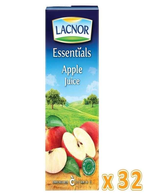 Lacnor Essentials Apple Juice, 32 x 180ml