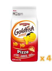 Peppridge Farm Goldfish Pizza Baked Snack Crackers, 4 x 187g