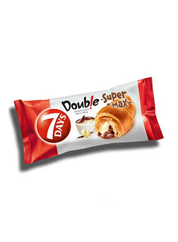 7-Days Double Super Max Vanilla Flavor and Chocolate Fillings Croissant, 36 x 55g