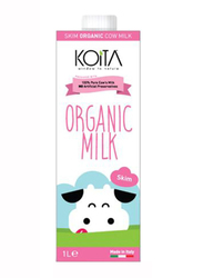 Koita Skimmed Organic Cow Milk, 12 x 1 Liter