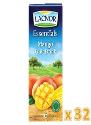 Lacnor Essentials Mango Juice, 32 x 180ml