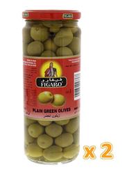 Figaro Plain Green Olives Pickle, 2 Jars x 270g