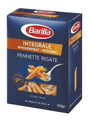 Barilla Integrale Whole Wheat Pennette Regate, 3 Boxes x 500g