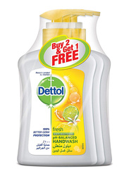 Dettol Fresh Anti- Bacterial Hand Wash, 200ml, 3 Pieces