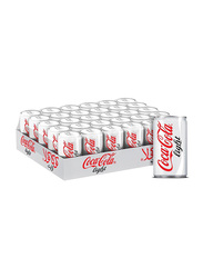Coca Cola Light Soft Drink, 30 Cans x 150ml