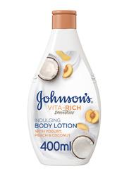 Johnson's Vita-Rich Smoothies Indulging Body Lotion with Yogurt/Peach/Coconut, 400ml