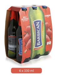 Barbican Strawberry Flavor Non Alcoholic Malt Beverage, 6 Bottles x 330ml