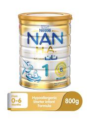 Nestle Nan H.A. Stage 1 Infant Formula Baby Food, 12263179, 800g