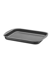Tramontina 28cm Flat Rectangle Roasting Pan, 33.3x23.9x3.5 cm, Black
