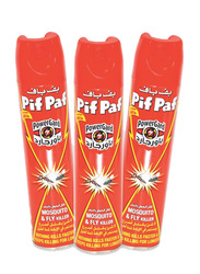 Pif Paf Fly & Mosquito Killer Spray, 3 Bottles x 400ml