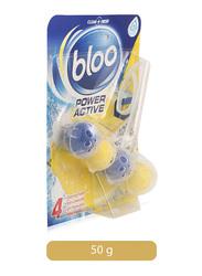 Bloo Power Active Lemon Toilet Rim Block, 50g