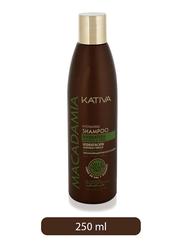 Kativa Macadamia Hydrating Salt Free Shampoo for Normal/Damaged Hair, 250ml