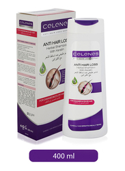 Celenes Anti-Hair Loss Herbal Shampoo with Keratin for Damaged/Color Hair, 400ml