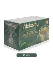 Alokozay Heat Seal Sachets Moroccan Tea, 25 Tea Bags x 2g
