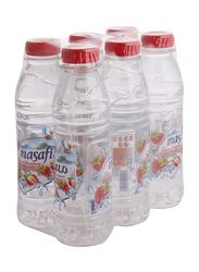 Masafi Strawberry Flavored Mineral Water, 6 Bottles x 500ml
