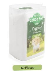 Nature's 60-Piece Cotton Soft Organic Baby Pads, Ultra Soft