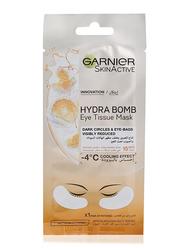 Garnier Skinactive Orange Juice and Hyaluronic Hydra Bomb Eye Tissue Face Mask, 8gm