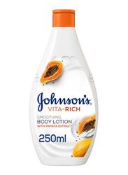 Johnson's Vita-Rich Smoothing Body Lotion with Papaya Extract, 250ml