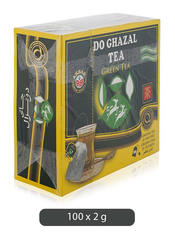 Do Ghazal Finest Green Tea, 100 Tea Bags x 2g