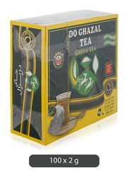 Do Ghazal Finest Green Tea, 100 Tea Bags x 2g