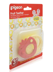 Pigeon Fruit Teether, 3+ Month, Red/Yellow