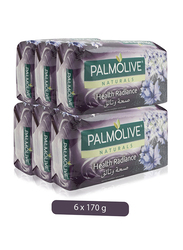 Palmolive Naturals Health Radiance with Habba Saouda Soap Bar, 170g, 6 Pieces