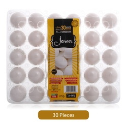 Jenan White Eggs Tray, Medium, 30 Pieces