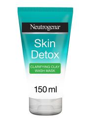 Neutrogena Skin Detox Clarifying Clay Wash Mask Facial Wash, 150ml