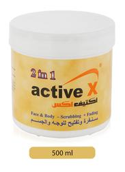 Active X 2-in-1 Face & Body Scrubbing & Fading Cream, 500ml