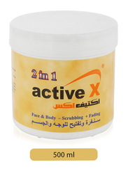 Active X 2-in-1 Face & Body Scrubbing & Fading Cream, 500ml
