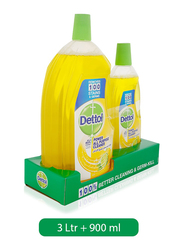 Dettol Lemon Healthy Home All Purpose Cleaner, 3.9 Liters