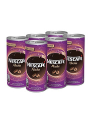 Nescafe Ready To Drink Mocha Chilled Coffee, 6 Cans x 240ml