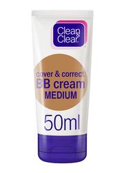 Clean & Clear Cover & Correct BB Cream, Medium, 50ml
