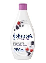 Johnson's Vita-Rich Replenishing Body Lotion with Raspberry Extract, 250ml