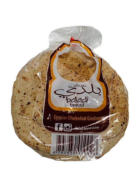 Baladi Bread Wholewheat Egyptian Arabic Bread, 4 pieces, 400g