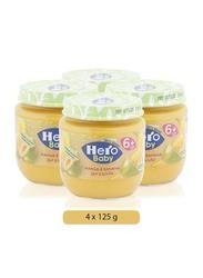 Hero Baby Mango & Banana Baby Food, 6 Months +, 4-Piece x 125g