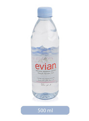 Evian Natural Mineral Water Bottle, 500ml