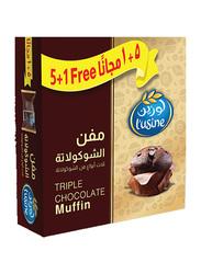 Lusine Triple Chocalate Muffin, 6 Pieces, 60g