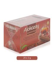 Alokozay Cinnamon Pure Ceylon Black Tea, 25 Tea Bags x 2g