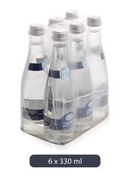 Al Ain Zero Sodium Water Glass Bottle, 6 Bottles x 330ml