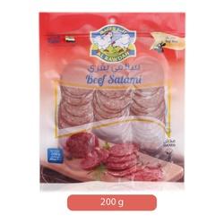Al Rawdah Beef Salami Sliced, 200 grams