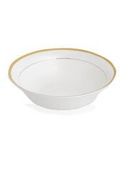 Shallow 9-inch Porcelain Round Dinner Bowl, White