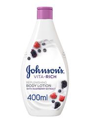 Johnson's Vita-Rich Replenishing Body Lotion with Raspberry Extract, 400ml
