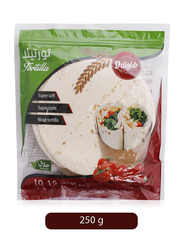 Delight 15cm Whole Wheat Tortillas Wrap, 10 Pieces, 250g