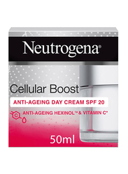 Neutrogena Cellular Boost Anti-Ageing Day Face Cream, SPF 20, 50ml