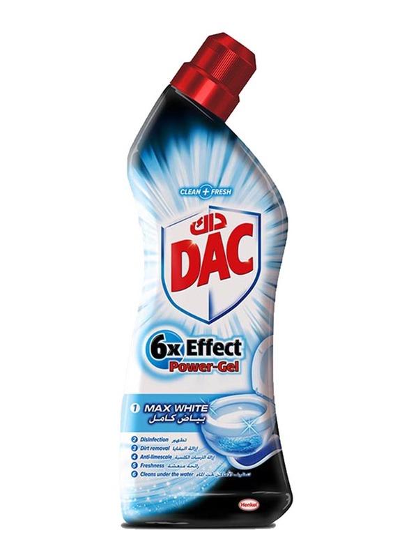 DAC 6x Effect Max White Power-Gel Toilet Cleaner, 750ml