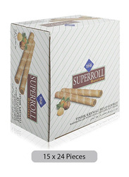 Cizmeci Time Superoll Cocoa & Hazelnut Filled Wafer, 24 x 15g