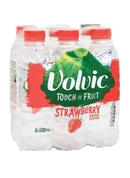Volvic Touch Of Fruit Strawberry Water, 6 Bottles x 500ml