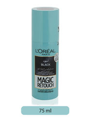L'Oreal Paris Magic Retouch Instant Root Concealer Spray for All Hair Types, 75ml, Black